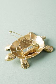 Anthropologie Brass Turtle Trinket Dish