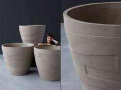 Contemporary Pots by Atelier Vierkant Belgium www.ateliervierkant.be