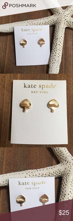 Kate spade clam shell earrings Gold tone adorable shell earrings by Kate spade. NWOT. kate spade Jewelry Earrings