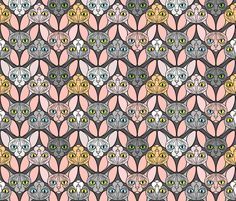 Sphynx Cat Chevrons fabric by glamourpuss on Spoonflower - custom fabric