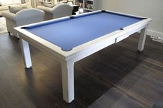 Ordinaire 8u0027 American Modern Pool Table. Oak Colour 8. Simonis Powder Blue Cloth.
