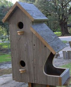 All in one Birdhouse/Feeder