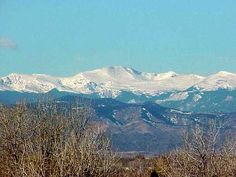 Mount Evans Co  this view was close to the view we had from our apartment in Denver  substract the foreground