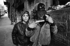 Rat and Mike with a Gun,Seattle, Washington, USA, 1983.