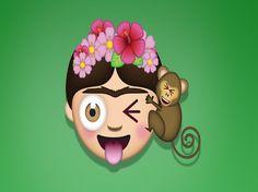 Los muchos rostros de Frida Kahlo serán 'emojis', o mejor dicho, 'FridaMoji'