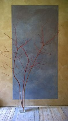 Blue skin, red branches.