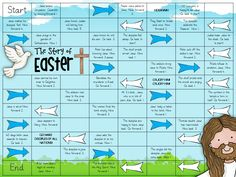 EASTER Board Game for RE KS1 / KS2 (Jesus, God, resurrection)