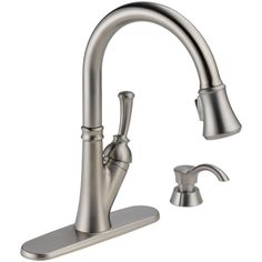 Shop Delta Savile Stainless 1-Handle Pull-Down Kitchen Faucet at Lowes.com $199