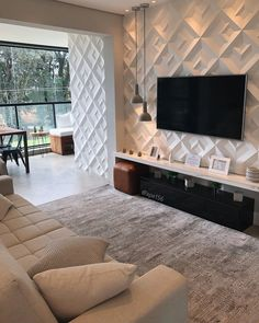 Stylish 45 Creative Landscape Flowers Design Ideas To Copy Now Living Room Partition Design, Living Room Tv Unit Designs, Room Partition Designs, Living Room Theaters, Home Living Room, Living Room Decor, Home Room Design, Home Decor Kitchen, House Rooms