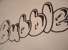 1980, bubbl letter