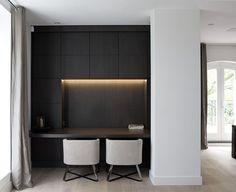 Top 70 Best Modern Home Office Design Ideas – Contemporary Working Spaces Study Room Design, Design Living Room, Built In Furniture, Built In Desk, Office Nook, Home Office Desks, Home Design, Interior Design, Design Ideas