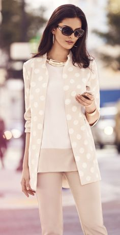 The Dotted Duster: Give your solids the day off and go graphic.