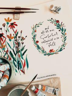 #watercolor #illustration & #digitallettering, #brushlettering @diehandletterei #letternammorgen