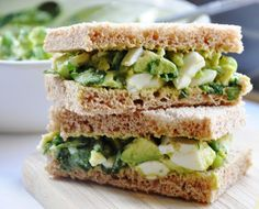 Avocado Egg Salad Sandwich (healthy, dairy-free, 100% whole wheat) - Honey, Whats Cooking