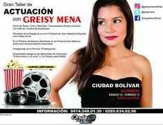 By @greisymenaoficial - En #Noviembre el turno es para #CiudadBolívar mi gente! Así que activos por allá también con mi #TallerDeActuación Mayor información en los números telefónicos que aparecen en la imagen. Nos vemos muy pronto Ciudad Bolívar! #Actores #TalentoVenezolano #venezuela #coaching #actriz #actor #Arte #creatividad #formación #educación #diversión #aprendizaje #artesescenicas