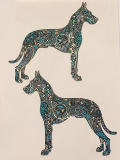 Great Danes Adult Coloring