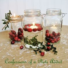 Fun and Easy...Mason Jar Christmas Candles