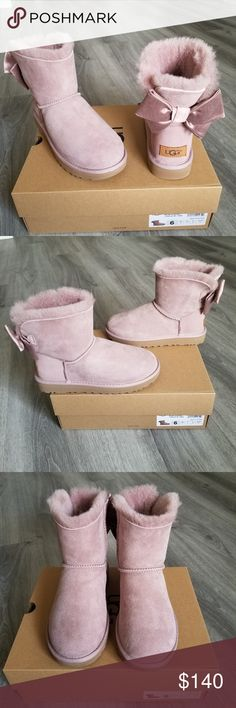 4d39c6353 UGG Mini Bailey Bow II Glam Boot. Brand NEW UGG Mini Bailey Bow II Glam