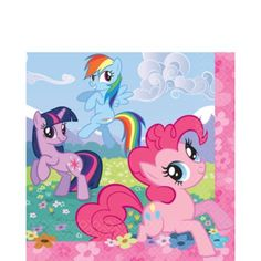 My Little Pony Lunch Napkins 16ct - Girls Birthday Party Themes - Girls Birthday - Birthday Party Supplies - Categories - Party City