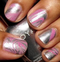 Nail Marbling; colors I haven't seen!