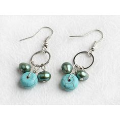 Tribal Earrings,Turquoise Earrings,Rough Stone Earrings,Genuine... ($15) ❤ liked on Polyvore featuring jewelry, earrings, tribal earrings, stone jewelry, turquoise jewellery, earring jewelry and blue turquoise earrings