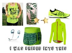 """""""Running a marathon by someone lazy"""" by cheshire-wolf on Polyvore featuring New Balance, Casetify, NIKE, Castelli, Rebecca Minkoff and Beats by Dr. Dre"""