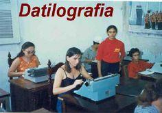 No tempo em que se aprendia a escrever à máquina, era assim.