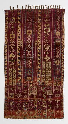 Africa | Carpet from the Tribu Zemmour people of the Middle Atlas Mountains, Morocco | 19th century