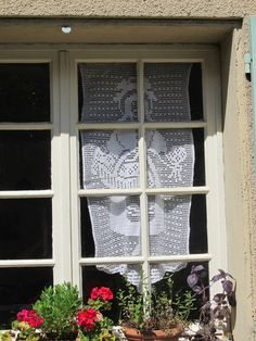 french antique panel filet crochet