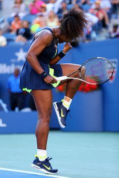 Serena Williams- 2012 US Open Champion. Pumped with her Wilson Blade Team tennis racket