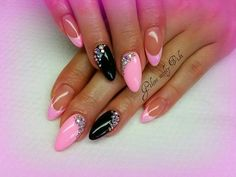 Frenchnails Mazt Wedding Favor Ideas: Tips For Planning Weddings Article Body: If you have ever atte Neon Nail Designs, Simple Nail Art Designs, French Nails, Love Nails, Pink Nails, Nail Manicure, Nail Polish, Nail Envy, Creative Nails