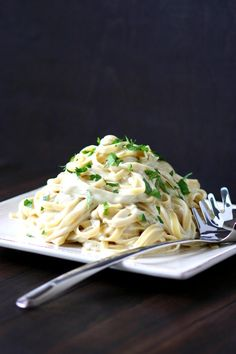 Rich, creamy, cheesy, and nondairy! This Vegan Fettuccine Alfredo recipe is a crowd-pleasing dish for pasta lovers of all ages.