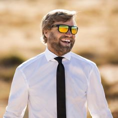 Alex Thomson wears ultra-lightweight, flexible BOSS sunglasses with polarized lenses to perform the #skywalk. Shop online now: www.hugoboss.com/skywalk