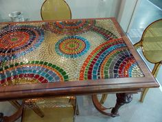 Blat mozaika fusingowa z manufaktury Riwal. Fusing. Fused glass.