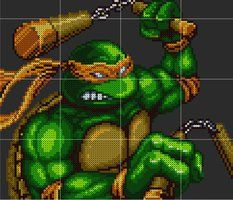 Michelangelo Sprite Template by D1A13LO