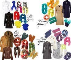 Évszaktípusok télikabátok  Winter, Spring, Autumn, Summer