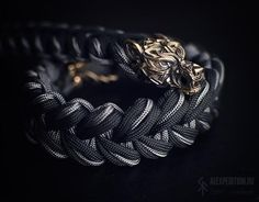 Gray Wolf - Paracord bracelet with Exclusive bronze buckle Paracord Knots, 550 Paracord, Paracord Bracelets, Bracelets For Men, Paracord Beads, Bronze, Snake Knot, Brass Buckle, Bracelet Tutorial
