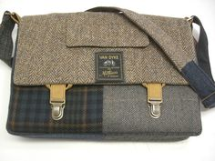 Messenger Bag  Laptop Sleeve- recycled material