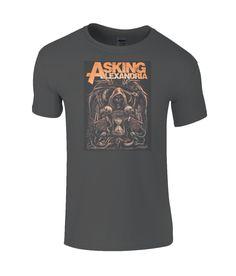 Asking Alexandria Limited Edition T-Shirt Asking Alexandria, Mayday Parade Lyrics, The Amity Affliction, Band Merch, Mens Tees, Alan Ashby, La Dispute, Jack Barakat, Mike Fuentes