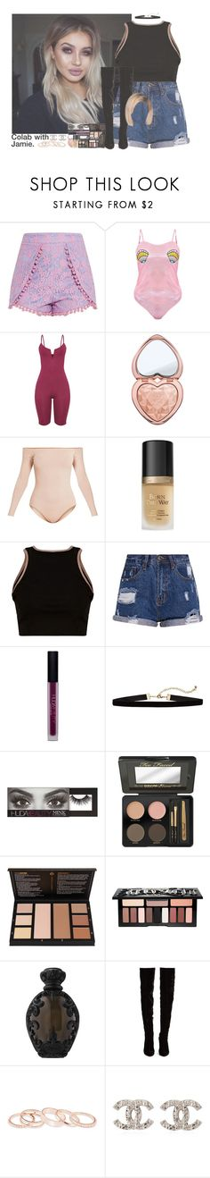 """""""Sin título #1731"""" by roxanaaylen ❤ liked on Polyvore featuring Too Faced Cosmetics, Huda Beauty, Kat Von D, Christian Louboutin, Kendra Scott and Chanel"""