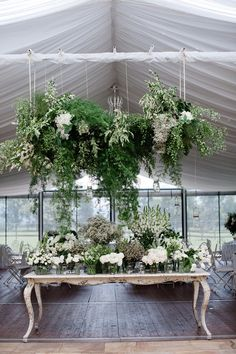 Marquee Wedding & Suspended Blooms / Courtney & Sebastian's Elegant Country Wedding / Tealily Photography