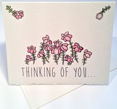 Thinking of You...  Greeting Card  Pretty by AlexandraWaterman, $4.00