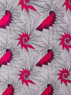 African Fabric Real Wax Print 6 Yards 100% Cotton rw1819