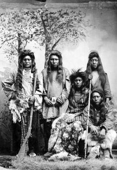 Shoshone Indians around 1870. Courtesy Utah Historical Society