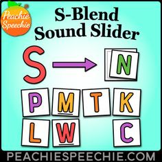 This simple visual is designed to help students with production of s-blends in speech therapy. Have students slide their finger from the S to the second consonant in the blend as they practice. This is a nice visual to have when working with students with consonant cluster