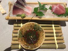 Sashimi garoupa, atum e carapau #kaiseki