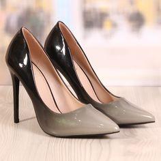 Poze Pantofi Stiletto Revlon Black&Silver Cod: 727