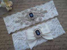 SALEOLIVIA Style B-Wedding Garter Set Bridal by LovelyGarters