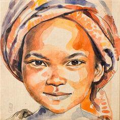 Stéphanie Ledoux - Carnets de voyage: Fillette Burkinabe I love this artist! Go Check her blog: http://stephanie-ledoux.blogspot.fr/
