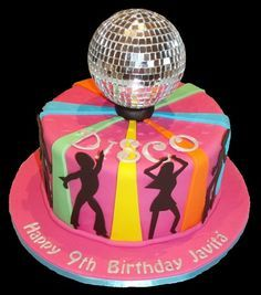 Groovy 40th birthday disco/70's party cake. Great! | My 70's ...